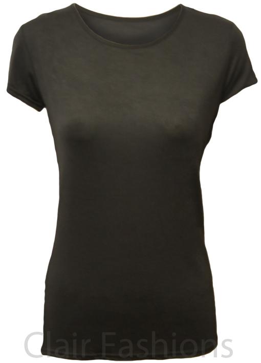 ladies plain black t shirt - photo #23