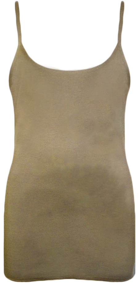 New-Womens-Strappy-Sleeveless-Ladies-Plain-Stretch-Cami-Vest-Top-8-14
