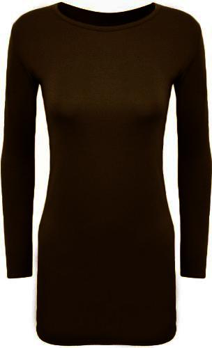 New-Womens-Long-Sleeve-Stretch-Bodycon-Ladies-Plain-Short-Mini-Dress-Top-8-14