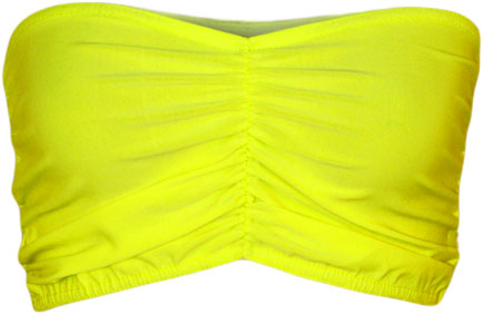 New Womens Bandeau Bra Neon Ruched Top Ladies Bralet Boobtube Vest ...