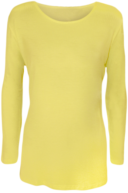 New Plus Size Womens Plain Long Sleeve Ladies Stretch T