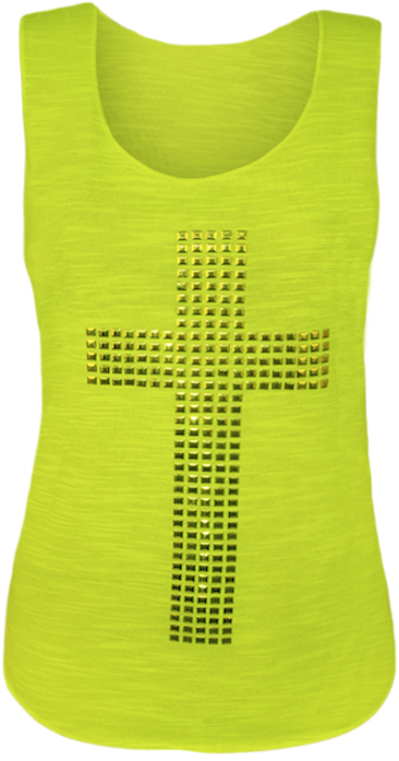 NUOVA-linea-donna-Croce-Stud-RACER-senza-maniche-signore-STRETCH-muscolo-posteriore-CANOTTA-8-14