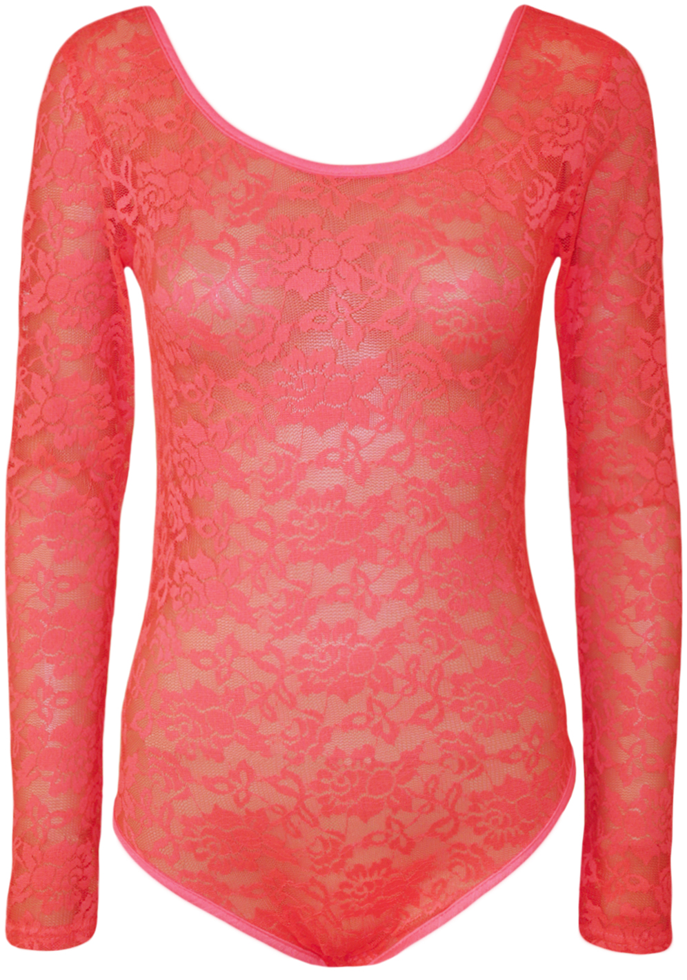 New-Ladies-Lace-Stretch-Bodysuit-Long-Sleeve-Womens-Floral-Body-Leotard-Top-8-14