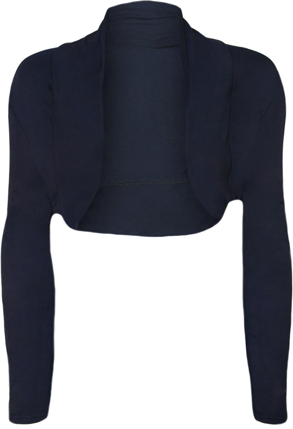 Navy Blue Cropped Cardigan - Cardigan With Buttons