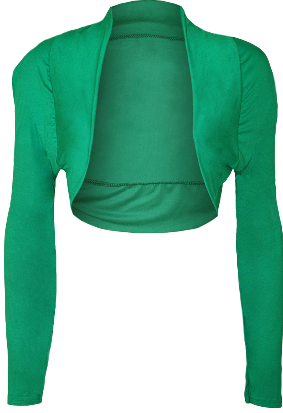 New-Womens-Plus-Size-Plain-Long-Sleeve-Cropped-Ladies-Shrug-Bolero-Cardigan-Top