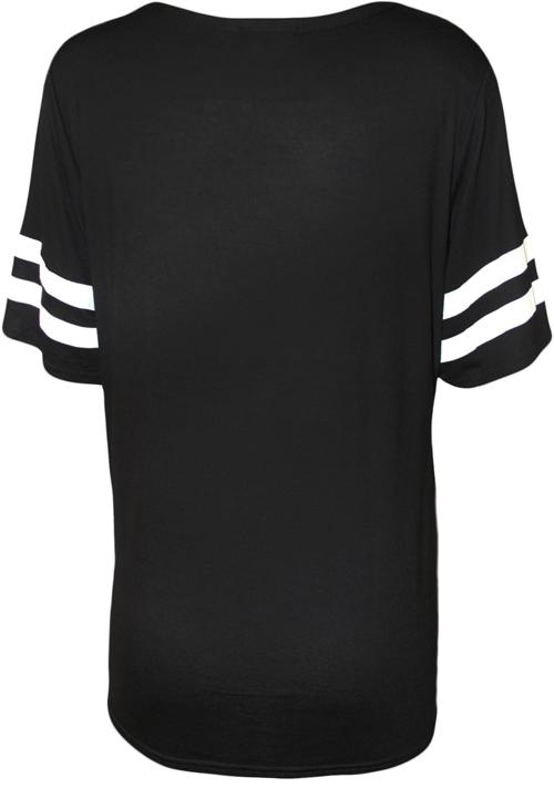 new womens 85 print short sleeve baseball jersey ladies baggy t shirt top 8 14 ebay. Black Bedroom Furniture Sets. Home Design Ideas