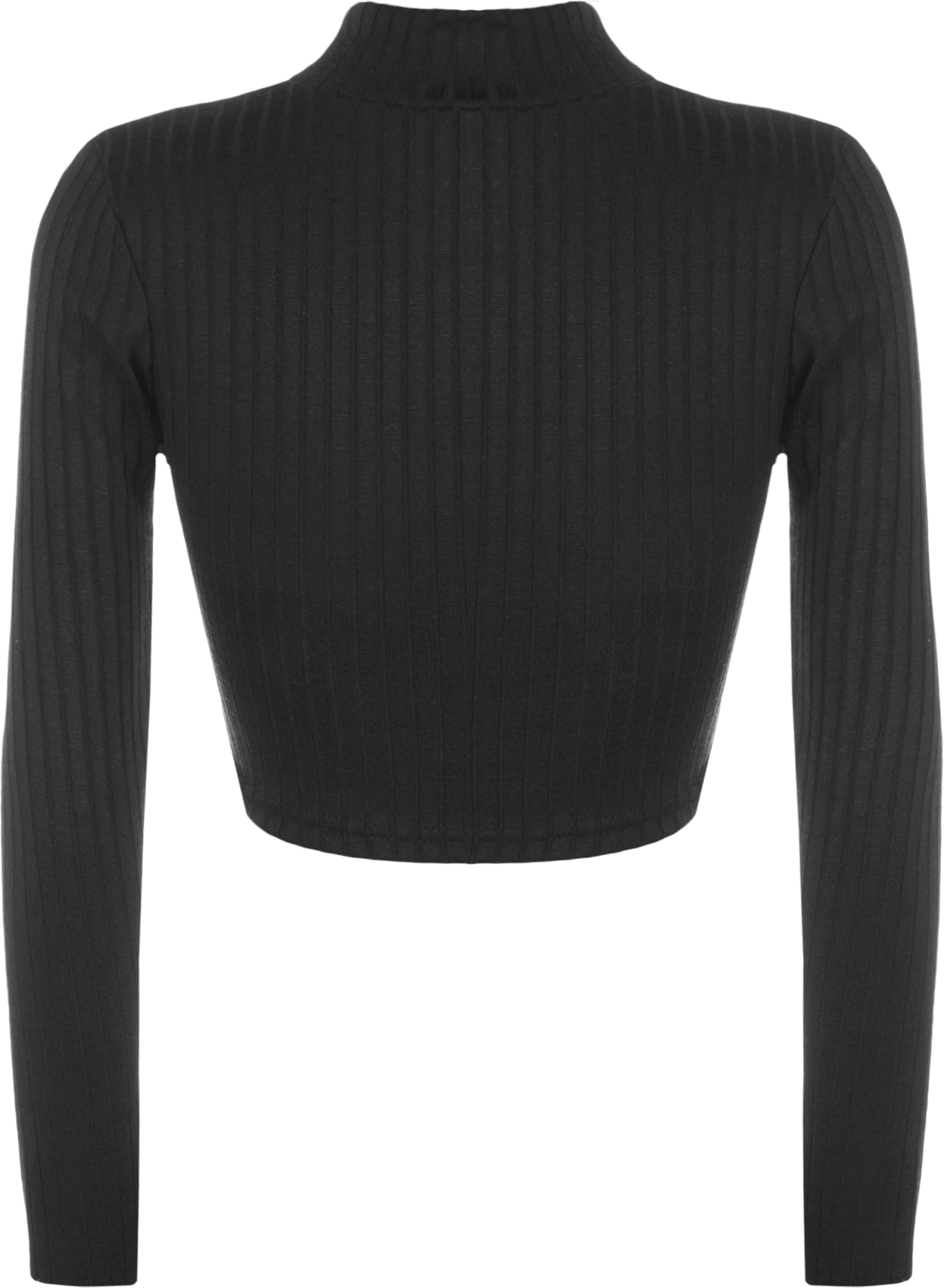 Womens knit ribbed long sleeve stretch short turtle neck t for Ribbed long sleeve shirt