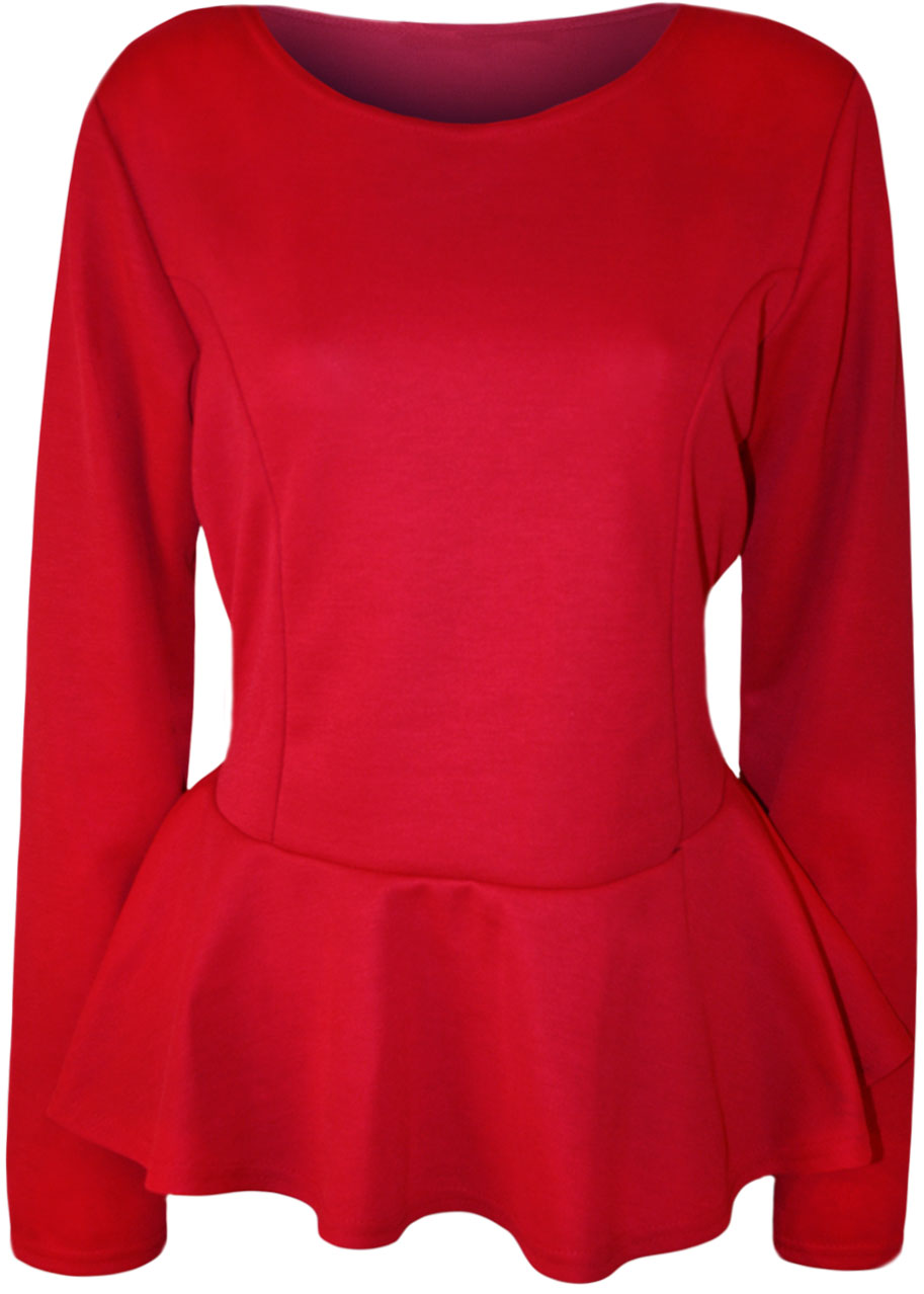Find red peplum top longsleeve at ShopStyle. Shop the latest collection of red peplum top longsleeve from the most popular stores - all in one place.