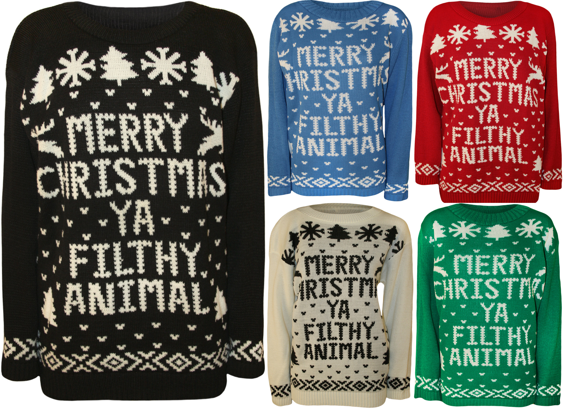 Merry Christmas Ya Filthy Animal Sweater Plus Size 75