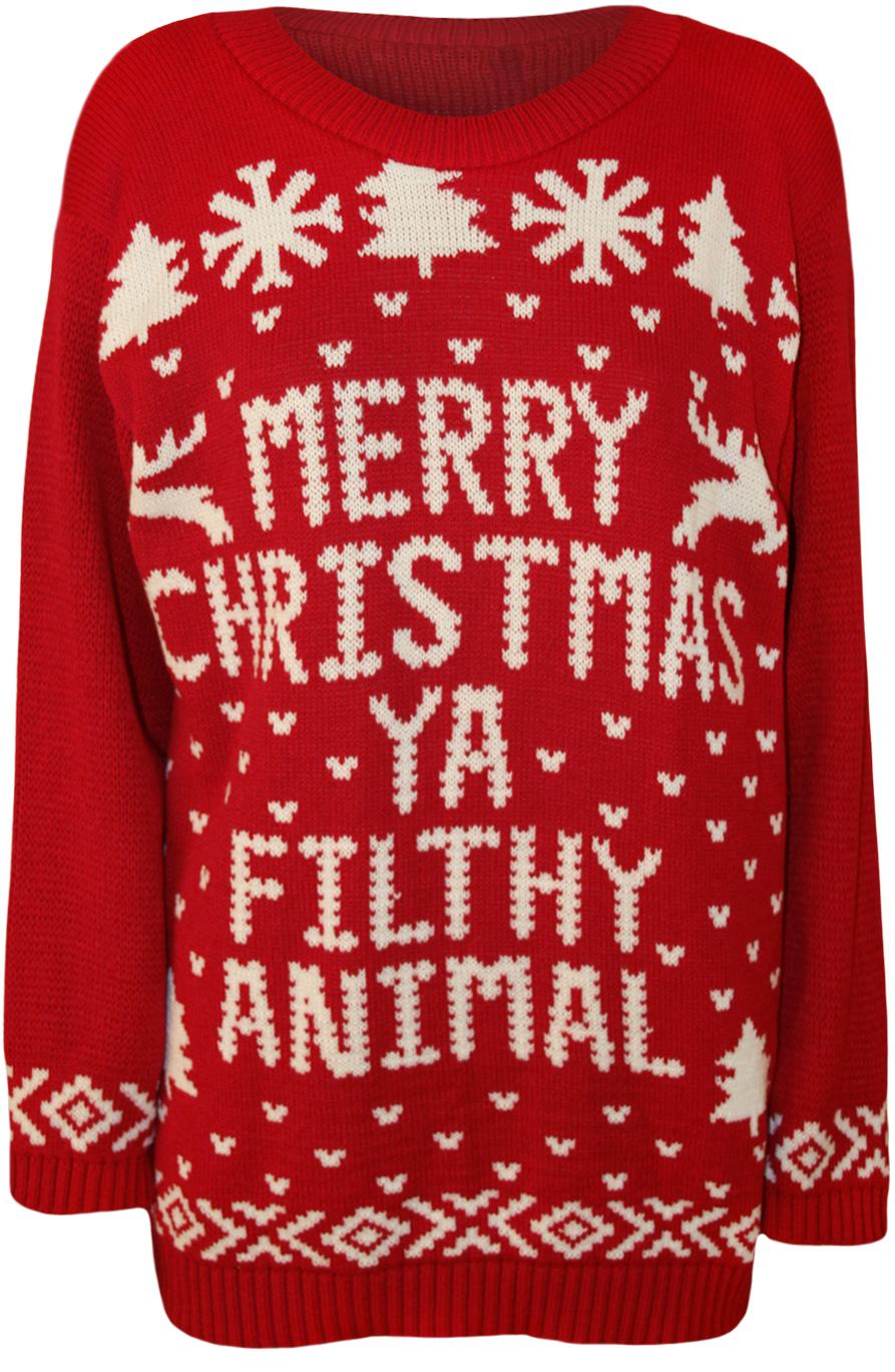 Ya filthy animal christmas sweater