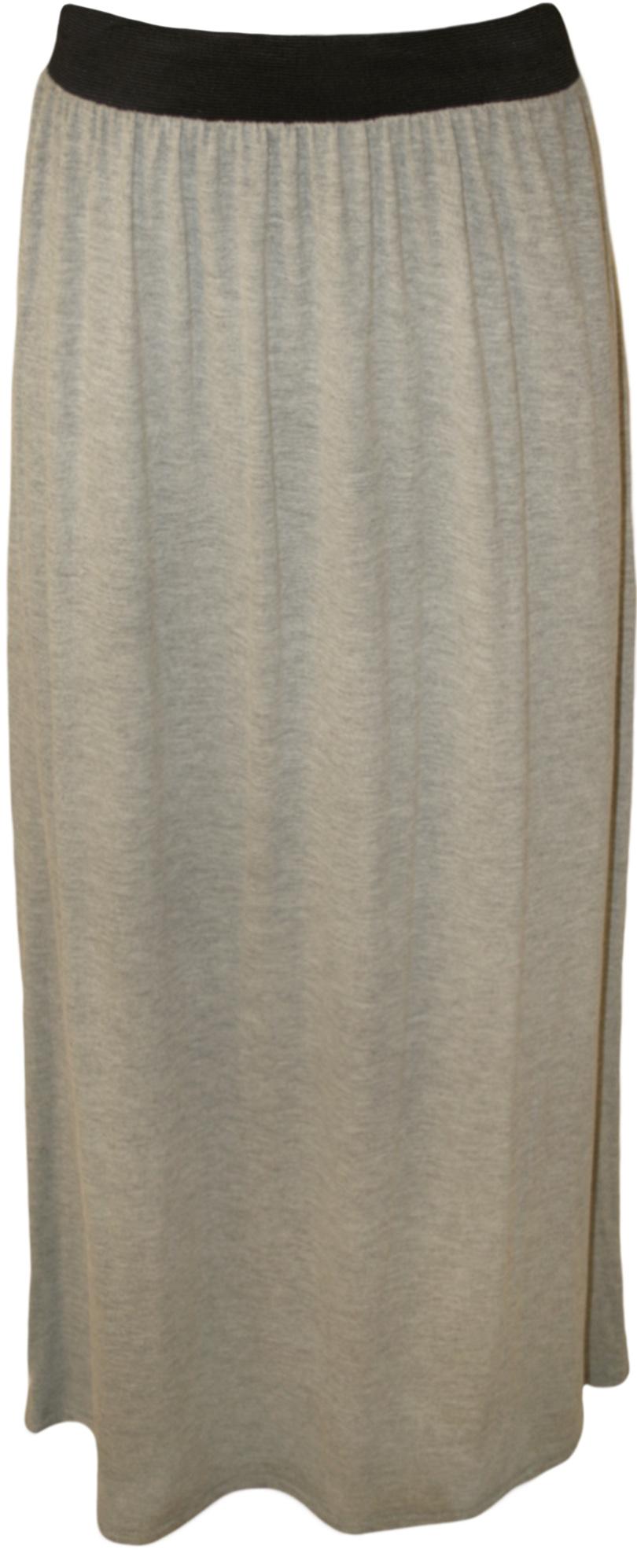New-Plus-Size-Womens-Plain-Stretch-Elasticated-Ladies-Full-Long-Maxi-Skirt-12-26