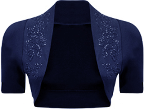 New-Ladies-Plus-Size-Beaded-Shrug-Womens-Short-Sleeve-Bolero-Cardigan-Top-16-26