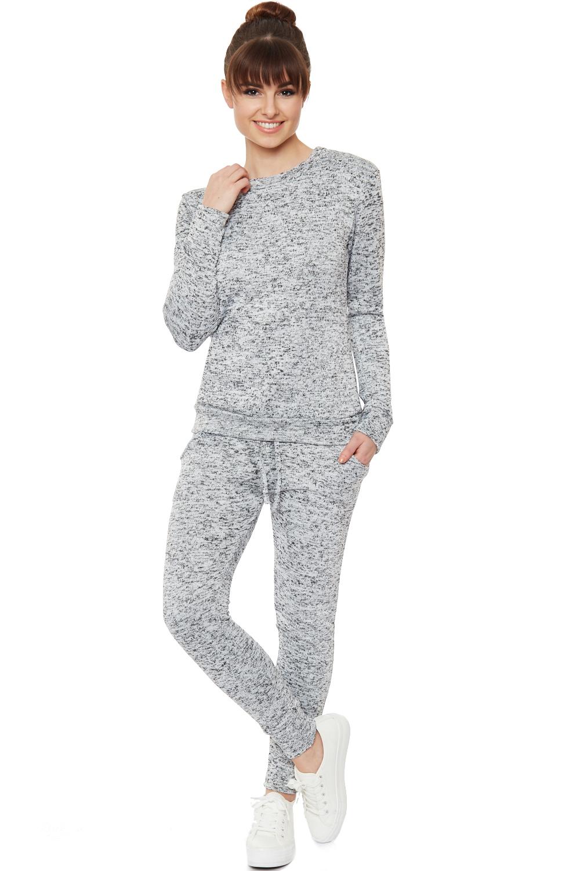 Fantastic Womens New Ladies Grey Loungewear Set Sweatshirt Joggers Tracksuit Pants 8-16 | EBay