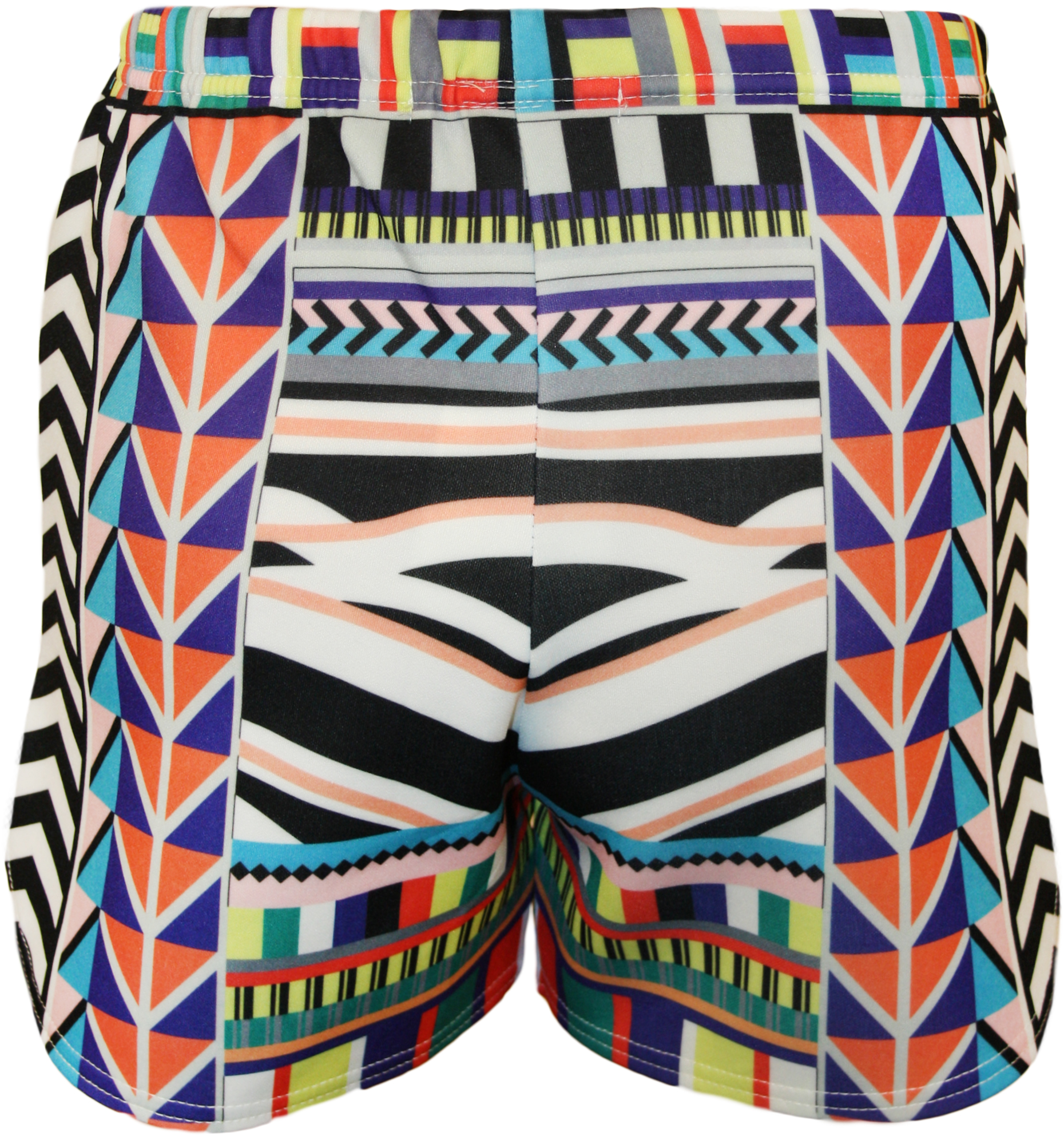New-Womens-Celeb-Aztec-Tribal-Print-Ladies-High-Waisted-Hot-Pants-Shorts-8-14