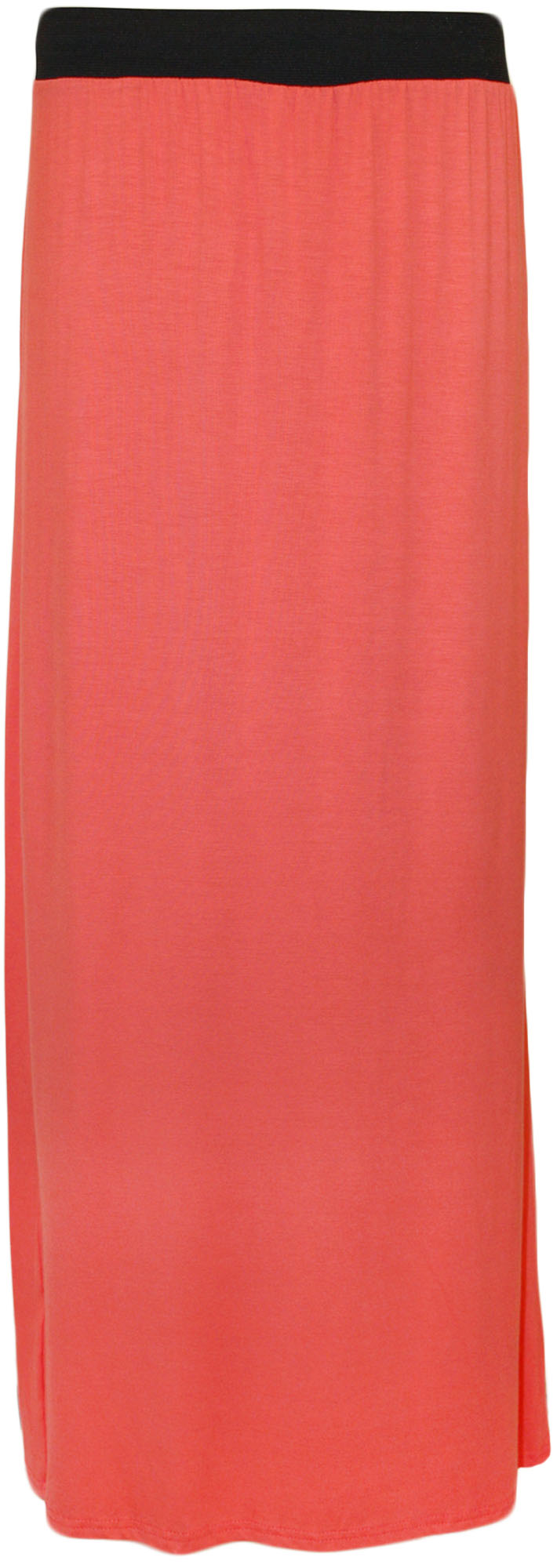 New-Plus-Size-Womens-Plain-Stretch-Elasticated-Ladies-Full-Long-Maxi-Skirt-12-26