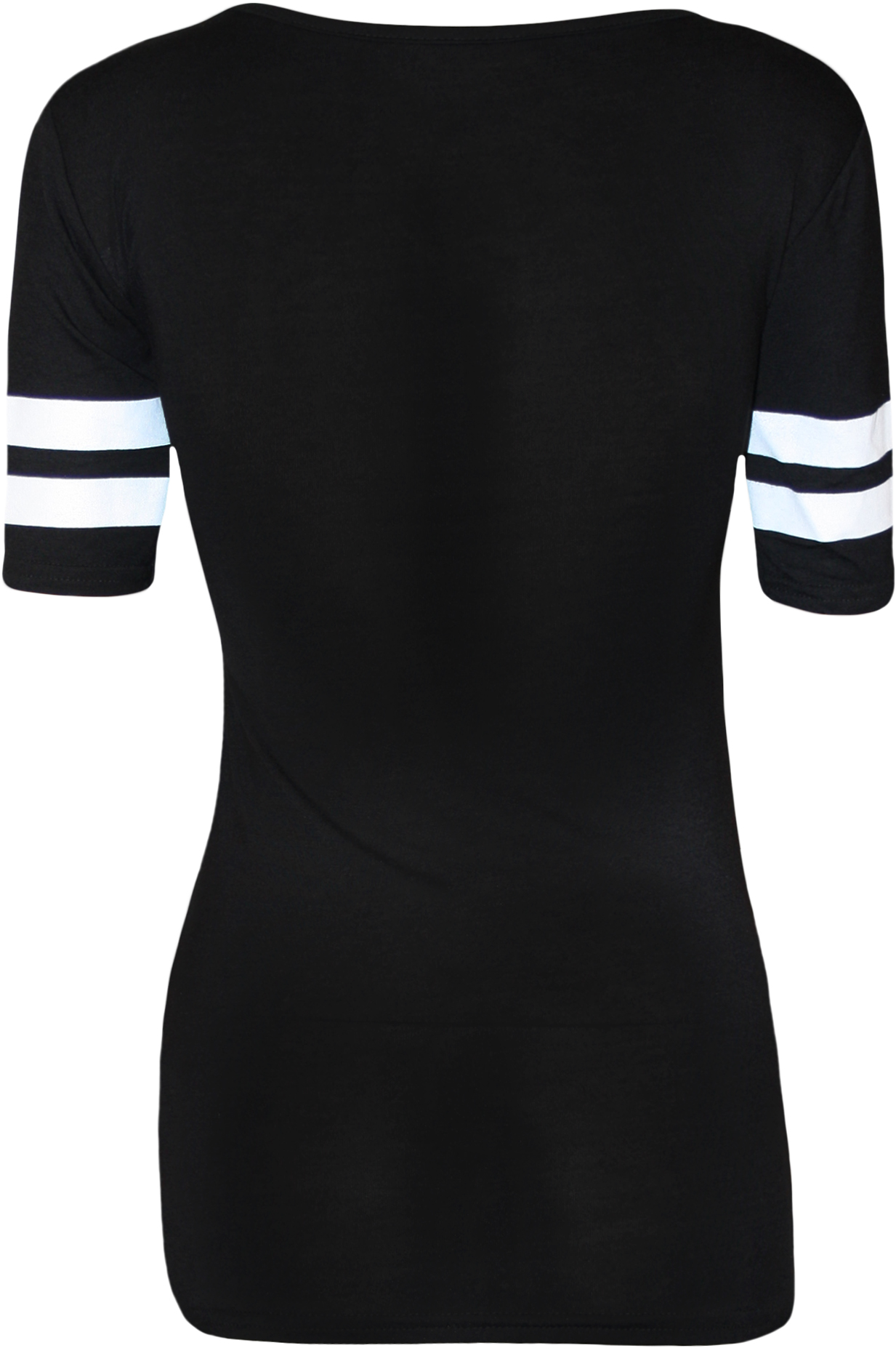 New Womens 23 Stripe Baseball Varsity Print Ladies Short ...