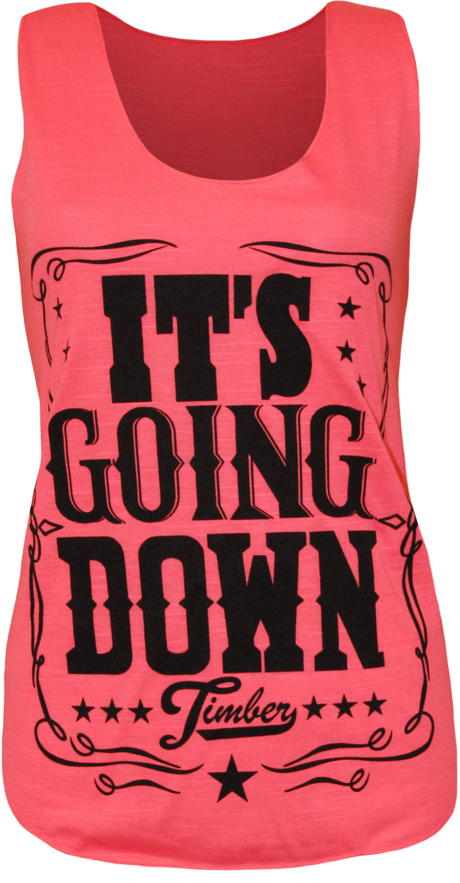 New-Womens-Timber-Its-Going-Down-Print-Ladies-Sleeveless-Vest-T-Shirt-Top-8-14