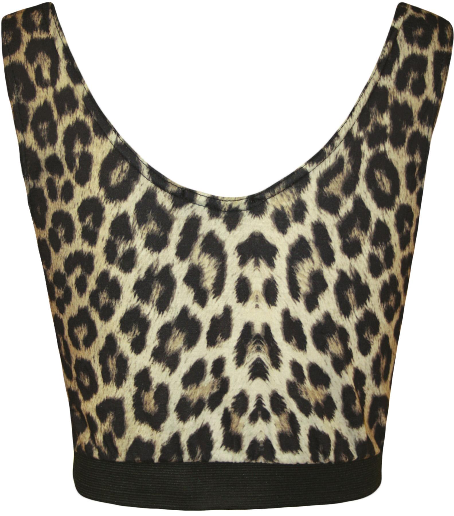 Nouveau femmes l opard animal imprimer soutien gorge court - Image leopard a imprimer ...