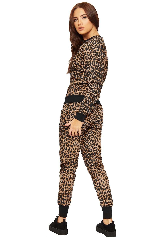 Excellent Womens Camouflage Pouch Print Loungewear Top Pants Ladies Jogging Suit Set | EBay