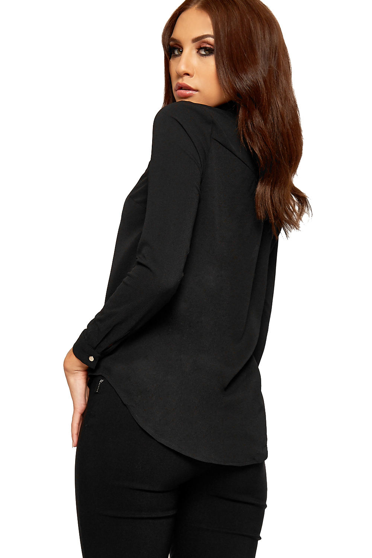 Womens sheer mesh collar shirt top ladies long sleeve for Mesh long sleeve t shirt