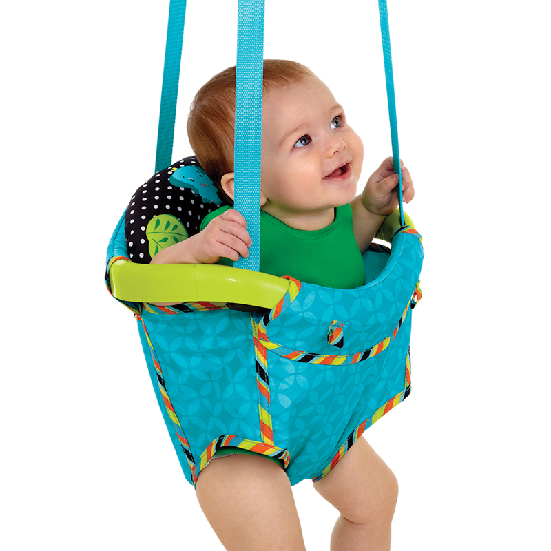 Bright starts baby jump activity door jumper ebay for Door bouncer age