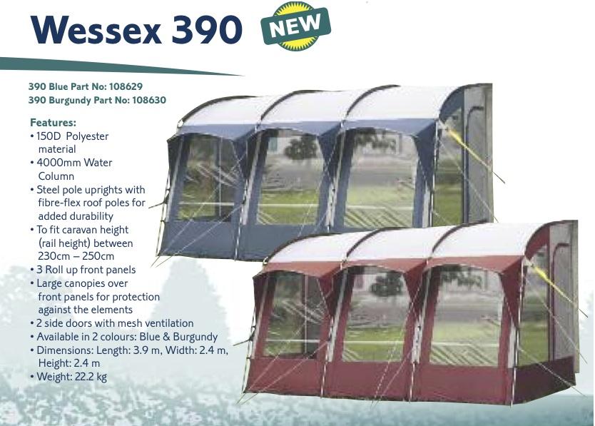 Royal Wessex 390 Caravan Porch Awning Burgundy 2011 Ebay