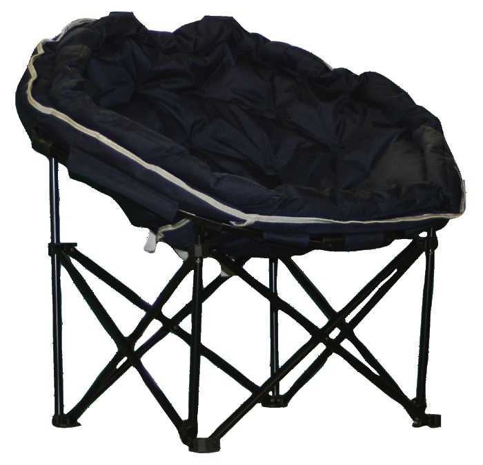 Most Comfortable Camp Chair ... Elite Deluxe Large Navy Moon Chair for Camping Caravans & Motorhomes