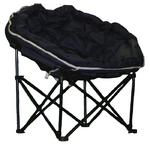 Quest Elite Deluxe Large Navy Moon Chair for Camping Caravans & Motorhomes