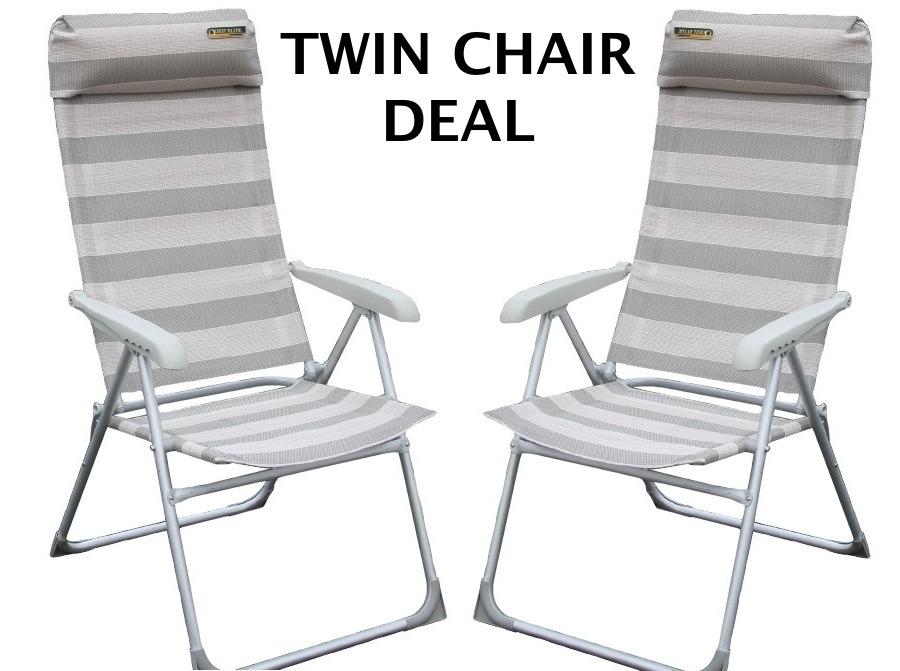 Quest Elite Sandringham Sl 6 Position Folding Chair 2012