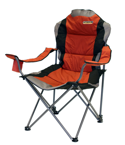 quest elite deluxe range comfort folding chair in paprika max load