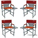 4 x Quest Traveller Surrey Directors Chair & Side Table in Paprika 4 CHAIR DEAL