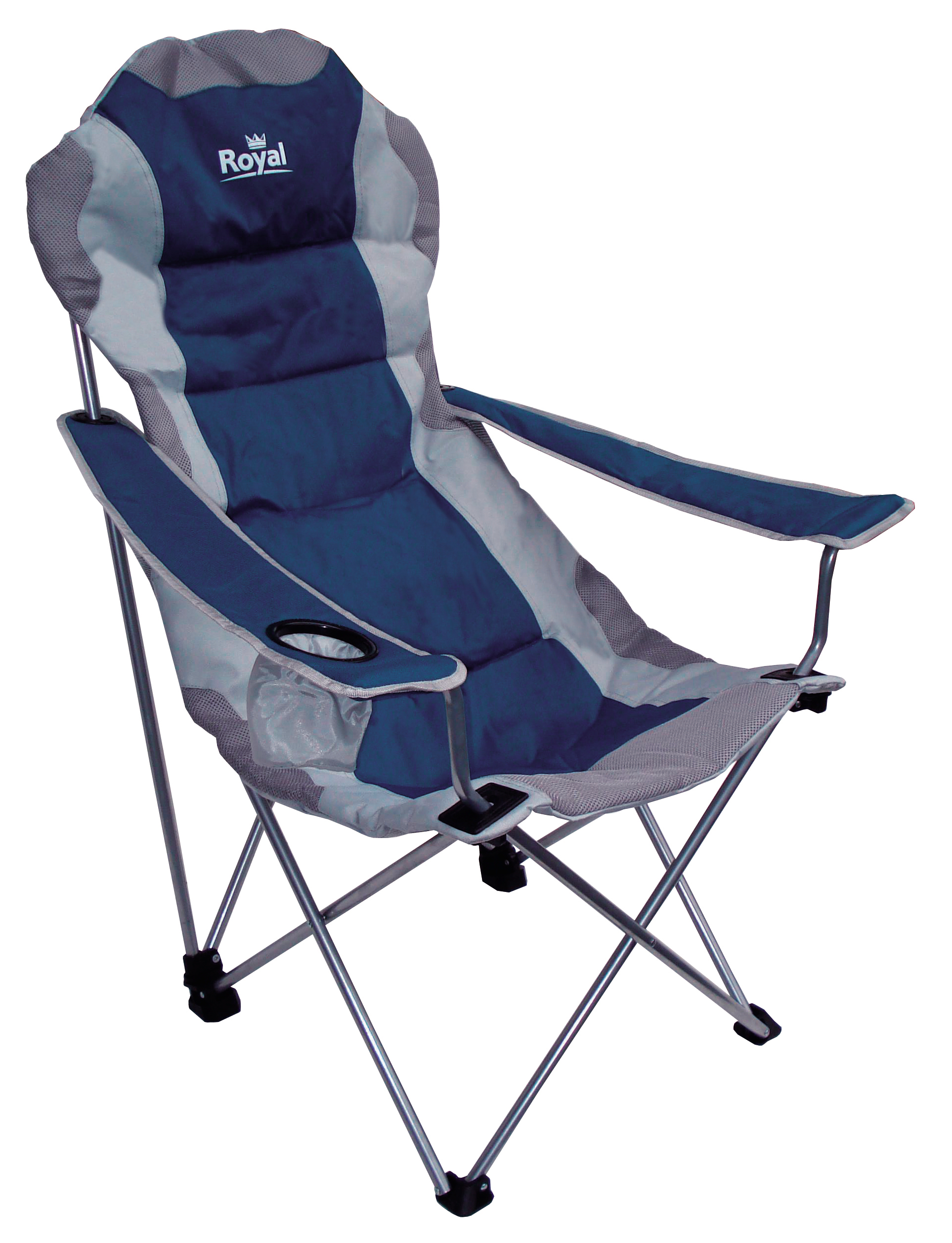Royal Adjustable Folding Chair 120KG Capacity 3 Position Blue