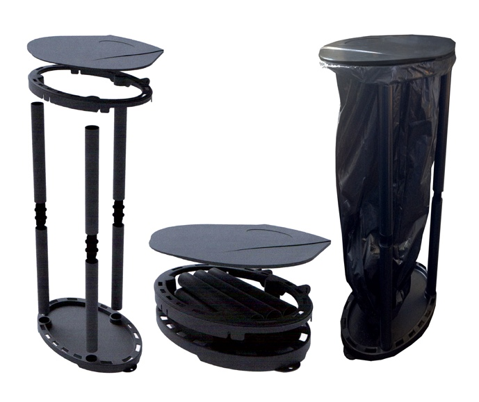 Crusader eco bin portable folding rubbish bin for camping caravans motorhomes ebay - Collapsible trash bins ...