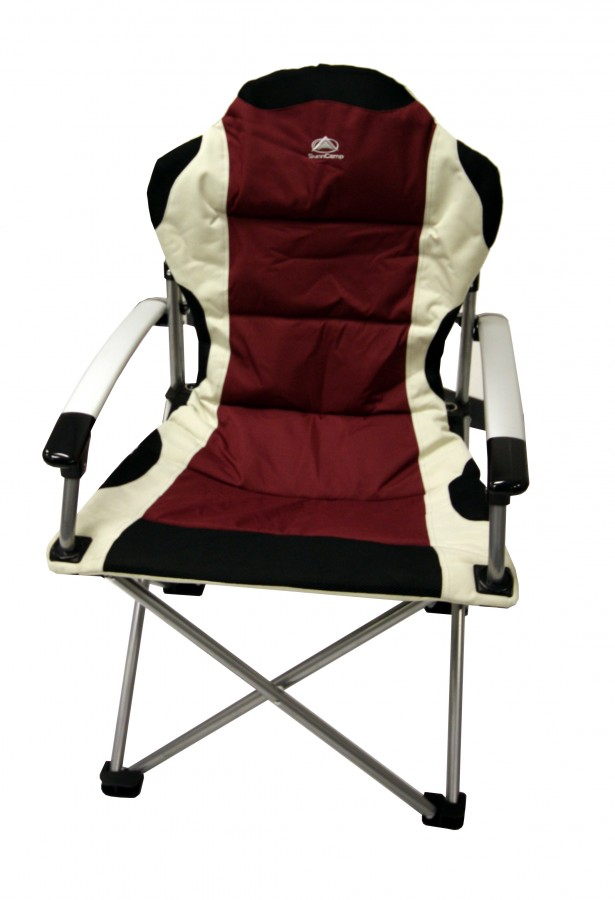 Sunncamp Deluxe Super Folding Heavy Duty Camping Chair Max Load 100kg Grape