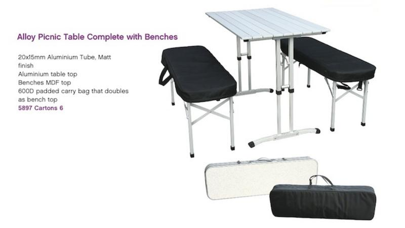 Quik Fold Camping and Caravan Tables | Anglo American Distributors