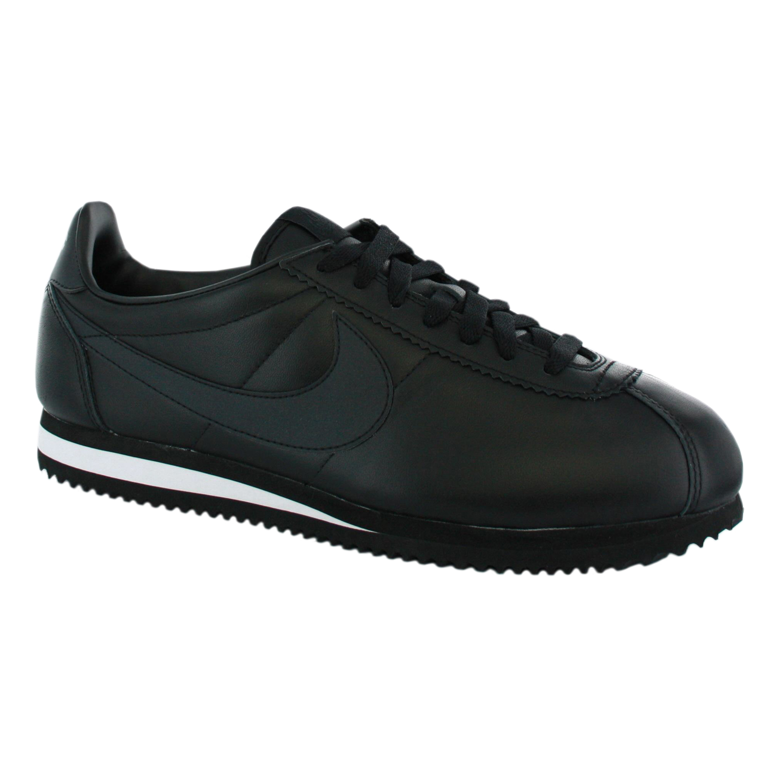 nike cortez leather mens new trainer shoes black