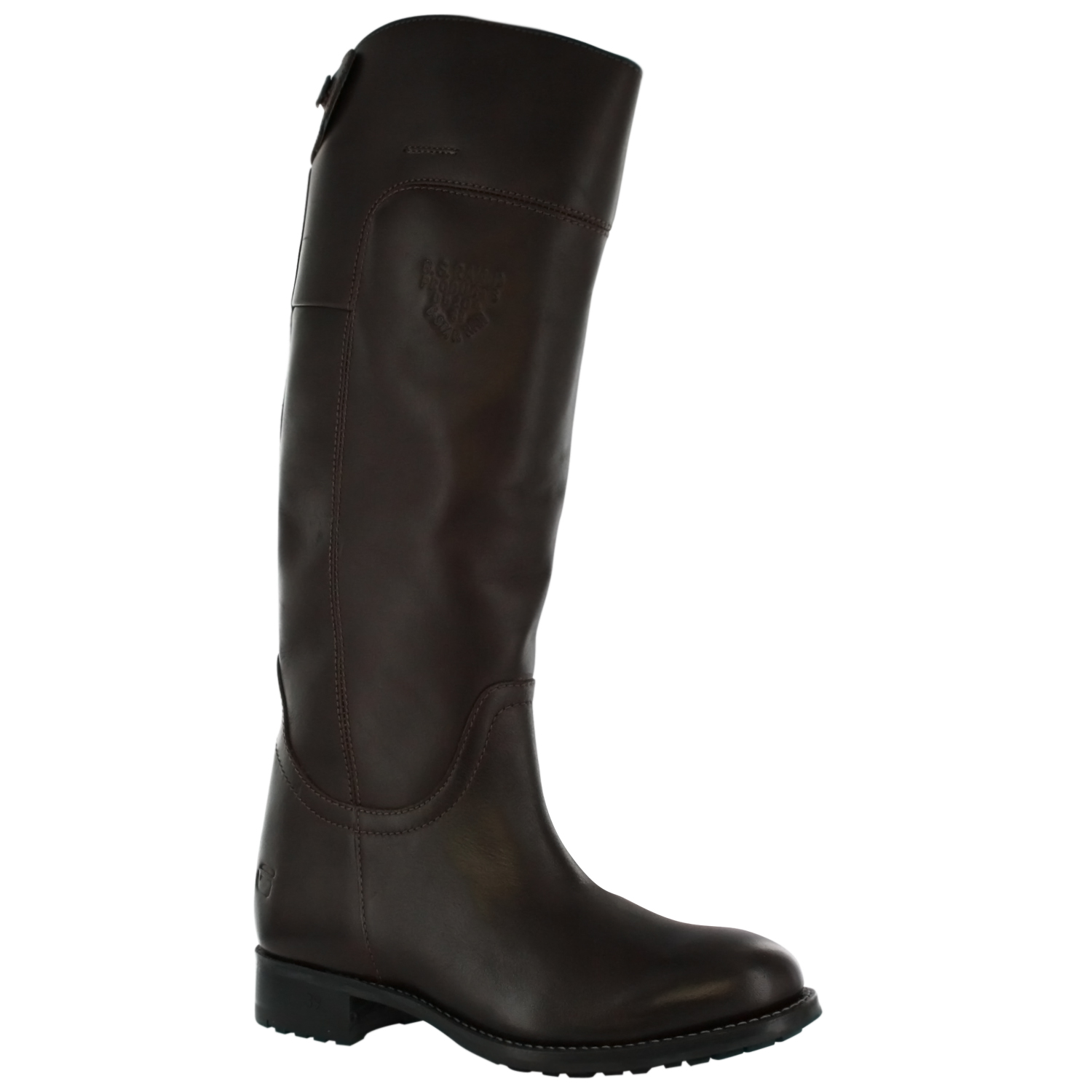 f7a24b953 G Star Petrarch Womens Long Leather Riding Boots Dark