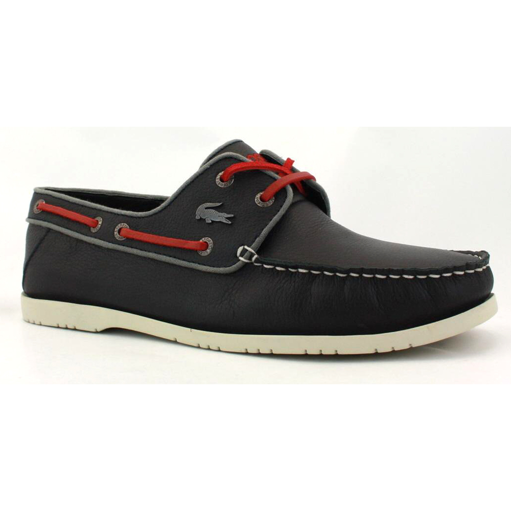 lacoste arlez 3 mens leather boat shoes navy ebay