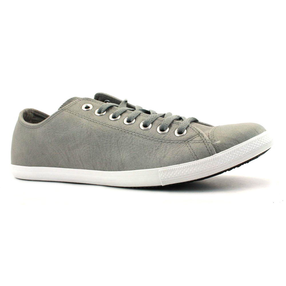 Image is loading Converse-All-Star-Slim-OX-Leather-Trainers-Grey 0e7857e7f
