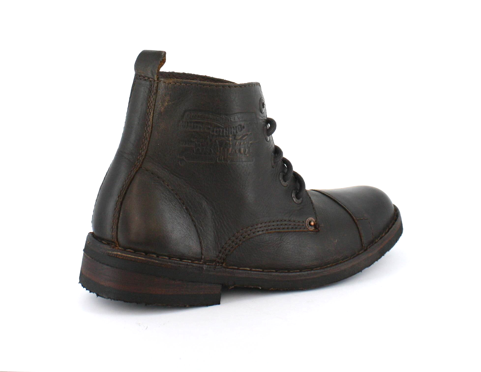 levis track original lace up leather boots brown ebay