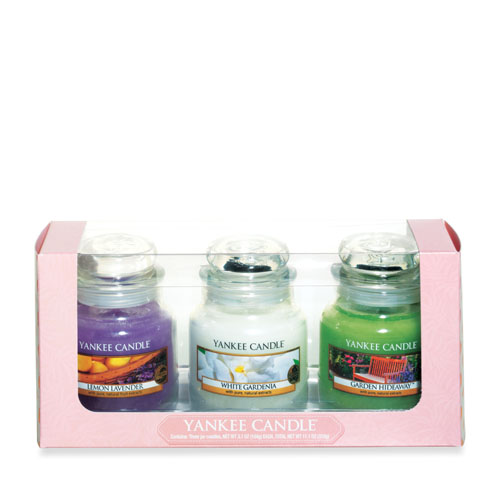3 Small Jars Floral Gift Set