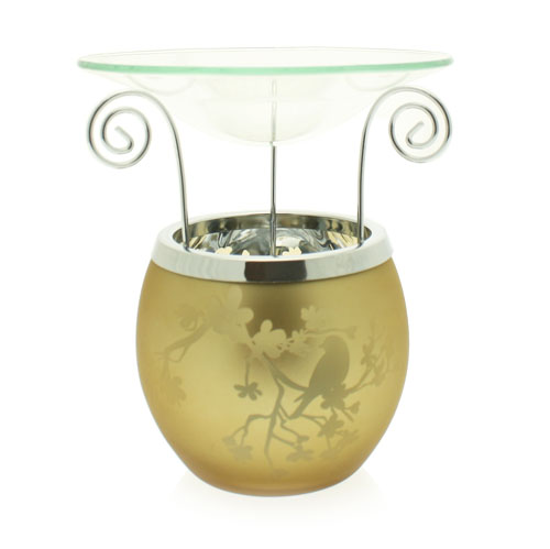 Birds Medium Gold Wax Burner