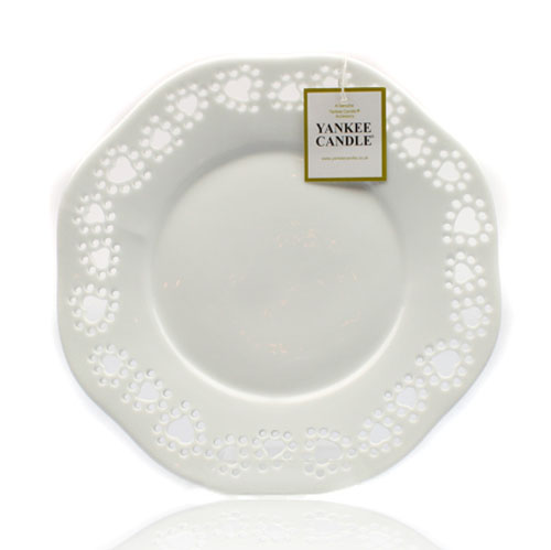 White Heart Large Tray