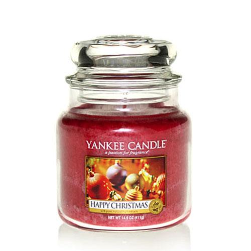 Yankee Candle Happy Christmas Medium Jar | eBay