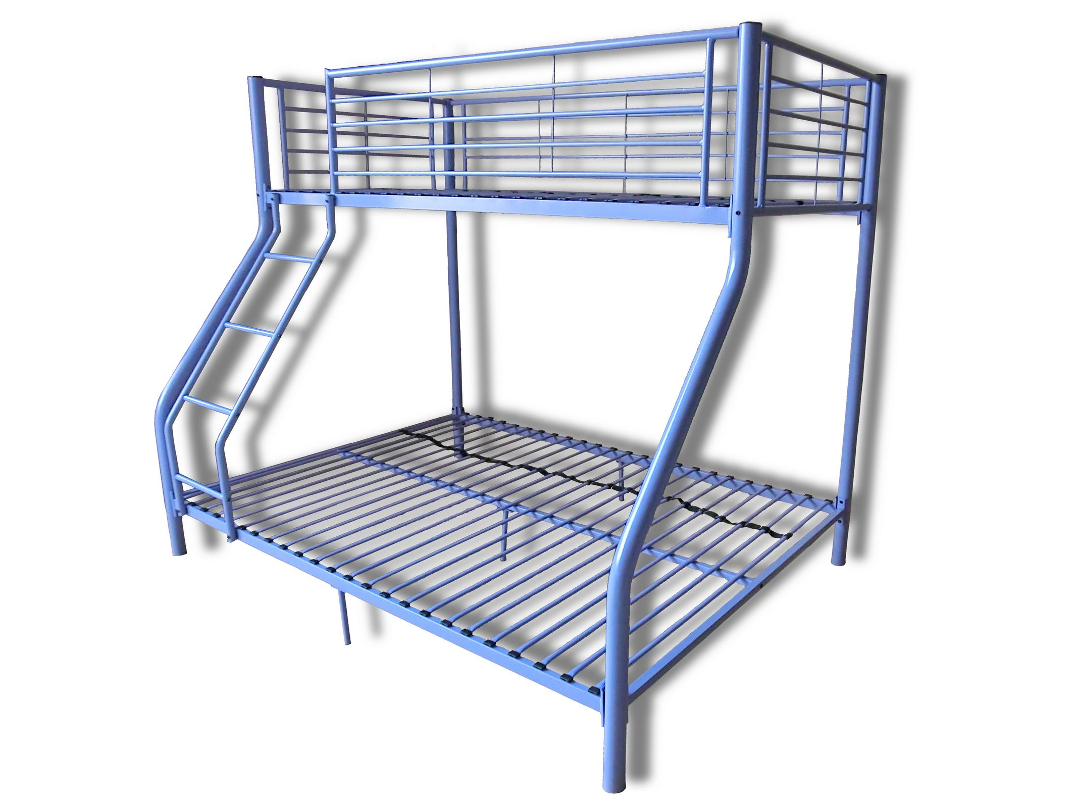 Triple children metal sleeper bunk bed frame in purple no for Bunk bed frame