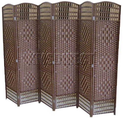 About Decorative 6 Panel Hand Made Wicker Room Divider Privacy Screen