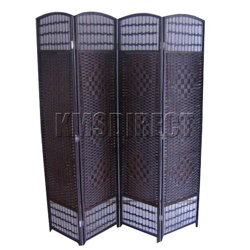 hand made 4 panel wicker decorative room divider privacy