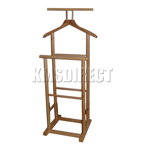 stummer diener naturholz doppelt kleidung mantel st nder b gel ebay. Black Bedroom Furniture Sets. Home Design Ideas