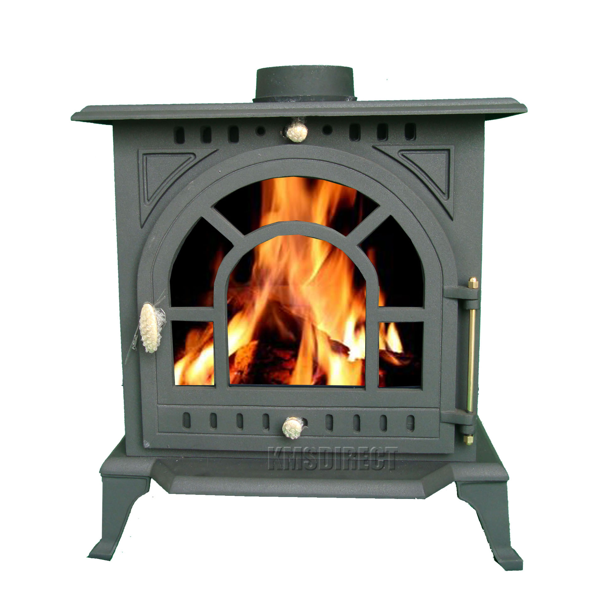 9kw ja005 high efficient cast iron log burner multifuel for Small efficient wood stoves