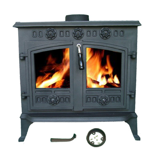 12kw ja006 high efficient cast iron log burner multifuel for Small efficient wood stoves
